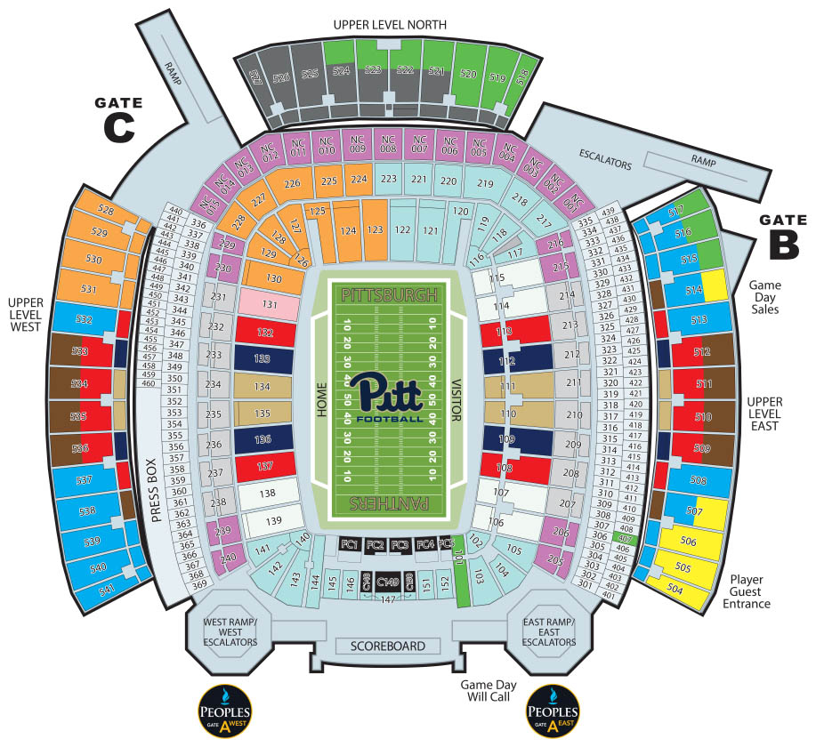 Heinz Field Seat Map Faculty and Staff Season Tickets   University of Pittsburgh Athletics Heinz Field Seat Map