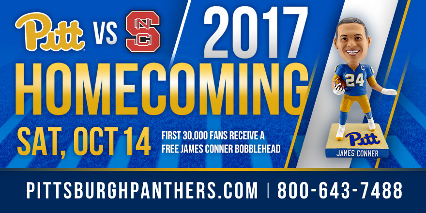 Pitt Unveils James Conner Bobblehead for Homecoming - University of ... b039c80a5
