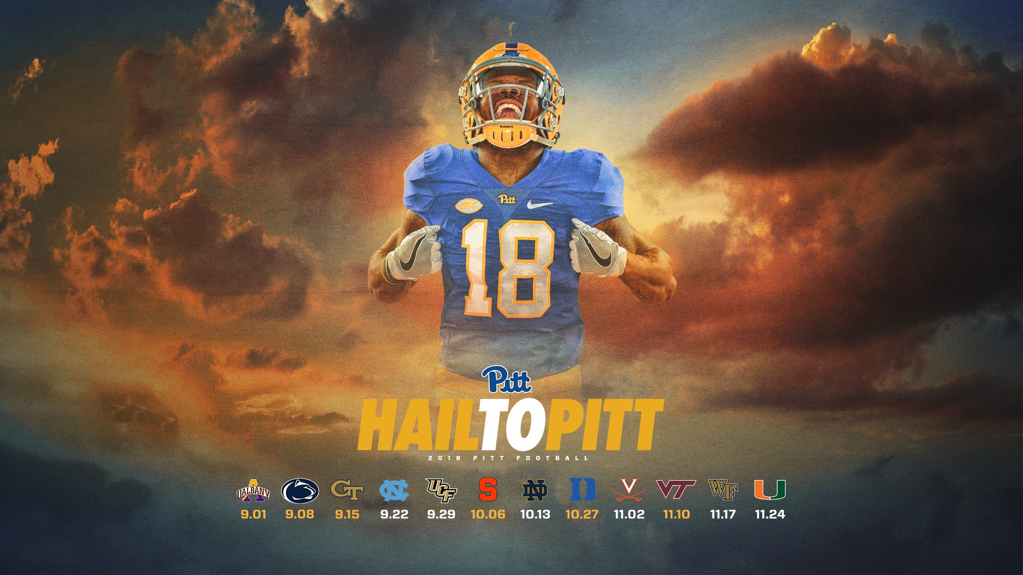 2019 Pitt Football Schedule Pitt Announces 2018 Football Schedule   Pitt Panthers #H2P
