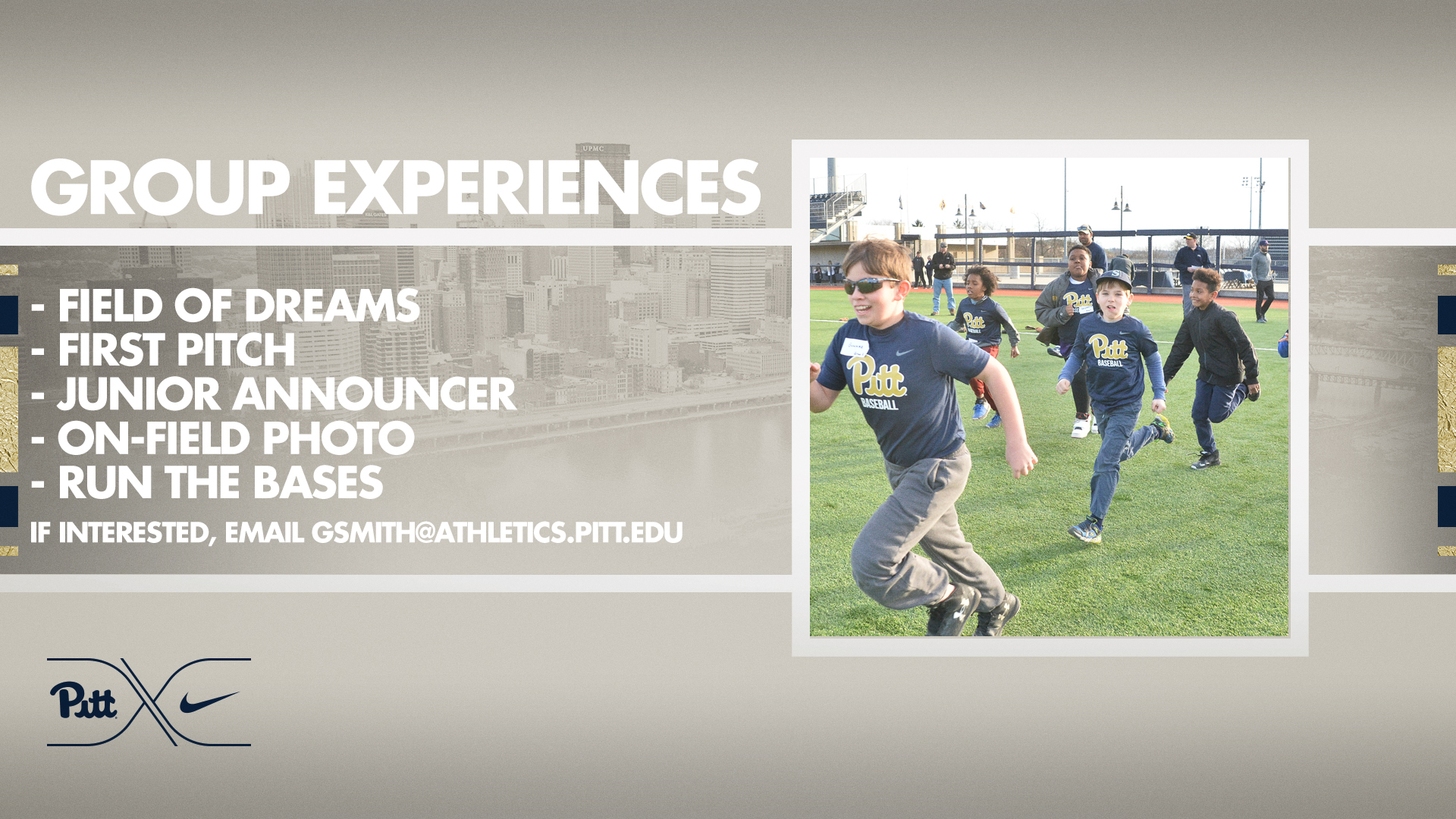 aa872fe9c23c Baseball Group Experience Packages Announced - Pitt Panthers  H2P